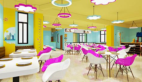 吉米布丁儿童餐厅装修设计