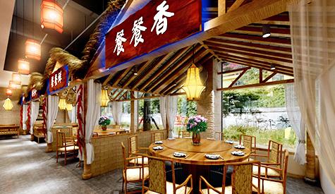餐餐香湘菜馆装修设计